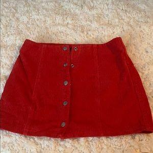 forever 21 red corduroy skirt !